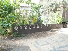 "Like the idea of a numberline on the raised bed ("",)"