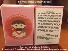 Happy Saints: St. Valentine Candy Boxes!