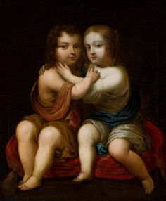 Portrait of Louis XIV of France as a child with his milk-sister Henrietta of England by circle of Pierre Mignard, ca. 1646 (PD-art/old), Muzeum Narodowe w Warszawie (MNW), possibly from the collection of Marie Louise Gonzaga