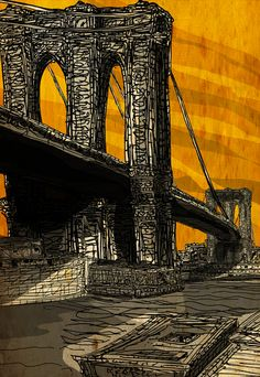 Brooklyn Bridge on Manhattan Mondays - http://art-nerd.com/newyork/brooklyn-bridge-on-manhattan-mondays/