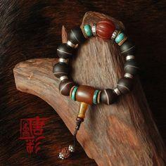 handmade tibetano genuino agata beads mala del braccialetto thai 925 puro argento agata tibetano rosari da polso mala braccialetto