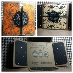 folded card no.4 - halloween - Scrapbook.com - Love the colors and how its folded