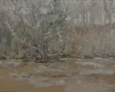 """Gilman's, Flurries & High Water, January 17, 2016, Oil on Canvas, 16"""" x 20"""""""