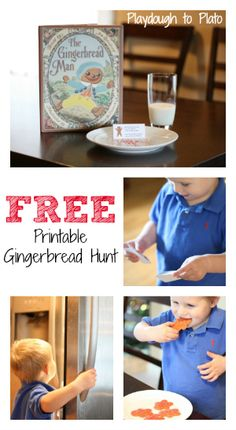 Free Printable Gingerbread Hunt! Fun way to follow up The Gingerbread Man.