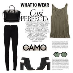 """""""Camo Style #130"""" by vbasianioti ❤ liked on Polyvore featuring Italia Independent, Aerie, Frame Denim, Whiteley, Givenchy and camostyle"""