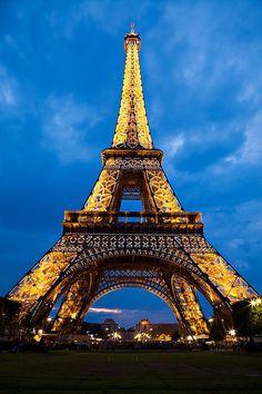 """Eiffel Tower Twilight"" via fineartamerica.com"