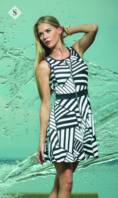black and white printed dress- sporty rock
