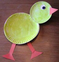 preschool paper crafts | Preschool Crafts for Kids*: Easter Chick Paper Plate Craft