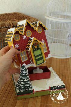 Lilicutes by Kakuseisha: Colorful Christmas Diy Christmas Village, Retro Christmas Decorations, Easy Christmas Crafts, Christmas Villages, Simple Christmas, All Things Christmas, Christmas Home, Christmas Cards, Christmas Ornaments