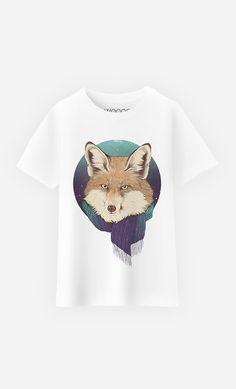 T-Shirt Enfant Winter Fox by Laura Graves - Wooop.fr