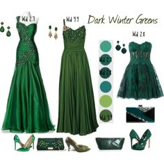 """""""Dark Winter Greens"""" by lizzycb on Polyvore 