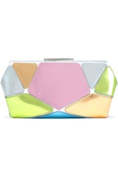 8a904c078 Metallic color-block leather clutch by Roger Vivier Clutch Bag, Leather  Clutch, Metallic