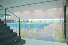 ADSJ piscina cubierta  dibujo sobre vinilo transparente