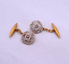 Art Deco Diamonds Platinum Gold 18 k antique by GoldcashSpain