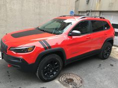 Jeep Trailhawk, Jeep Cherokee Trailhawk, Jeep Cherokee Accessories, Jeep Mods, Korea, Stripes, Cars, Vehicles, Design