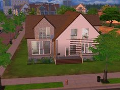 Family house with attic by lalucci at Mod The Sims via Sims 4 Updates