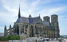Overview of Reims Cathedral from north-east