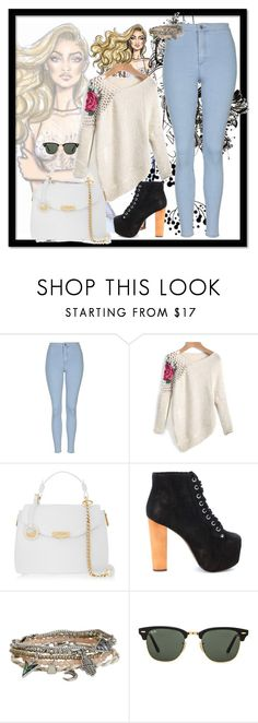 """Untitled #411"" by divadayana on Polyvore featuring Topshop, Versace, Jeffrey Campbell, Aéropostale, Ray-Ban, women's clothing, women, female, woman and misses"
