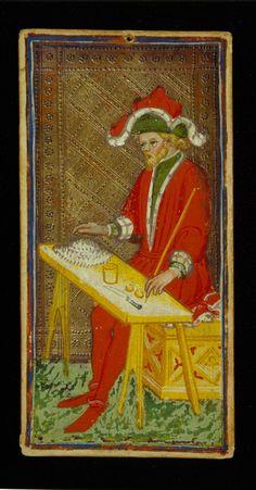 The Magician | Bonifacio Bembo for Visconti-Sforza Family | Medieval Tarot Cards | ca. 1450 | card no. 1 | The Morgan Library & Museum
