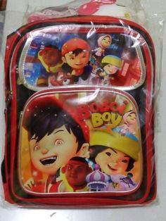 Detail: Back pack Design Boboi Boy Ukuran 12 (S) : IDR.72rb/pcs Ukuran 16 (L) : IDR.88rb/pcs Belum termasuk ongkir