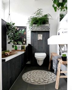 The white bathroom attracts with simplicity, purity and timeless elegance. If you are thinking of decorating your bathroom all in white. Bathroom Inspiration, Interior Inspiration, Creative Inspiration, Diy Rangement, Design Apartment, Bathroom Plants, Deco Design, Home And Deco, White Bathroom