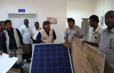 اخر اخبار اليمن - الهلال الأحمر الإماراتي يسلم (صحة ساحل حضرموت) ثلاجة لقاحات تعمل بالطاقة الشمسية