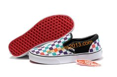 Vans Classics Checkerboard Slip-On Blue White Green Red