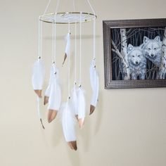 Gold Boho Baby Dreamcatcher  Mobile by FeatherDreamcatchers