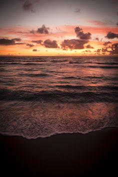 Dusk at the beach. #summer #sunsets #beach