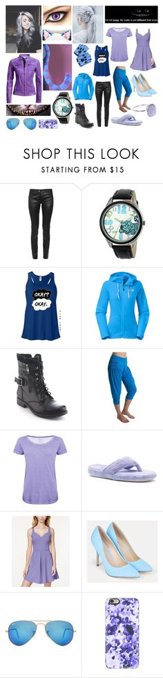 """Kitty Cheshire aka The Cheshire Cat"" by frootloop16 ❤ liked on Polyvore featuring Balenciaga, Disney, The North Face, Refresh, Be Up, Majestic Filatures, Acorn, In Awe of You, JustFab and Ray-Ban"