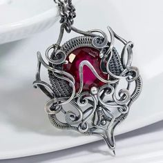 Amazing Sterling Silver Wire Wrapped Pendant by Sarah-N-Dippity.