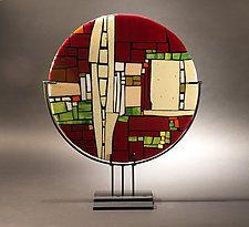 "Above the Street by Vicky Kokolski and Meg Branzetti (Art Glass Sculpture) (22"" x 18"")"
