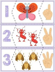 Teach counting skills with bugs! Great for teaching counting skills and number recognition for numbers Quick prep cards, great for math centers! Teaching Activities, Educational Activities, Teaching Kids, Autism Activities, Preschool Math, Preschool Worksheets, Math Resources, Teaching Numbers, Math For Kids