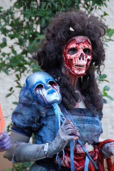 This is the most amazing skeleton or masquerade special effects make up I have ever seen