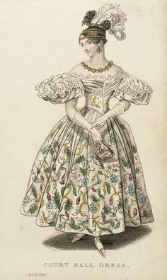 Court Ball Dress | Joseph Robins | England | April 1832 | Los Angeles County Museum of Art | Object #: M.86.266.495
