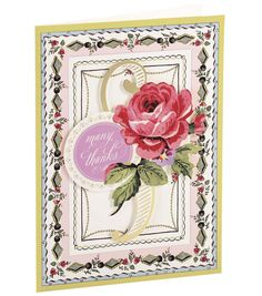 Anna Griffin Card Kit Thank You Painted