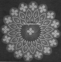 Free Vintage Crochet Dogwood Doily Pattern                                                                                                                                                                                 More