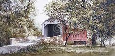 Ray Hendershot Summer Portal Country Tree Landscape Bridge Print Poster 19x13