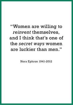 Nora Ephron  http://www.makers.com/nora-ephron