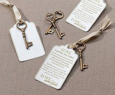 DIY Bride - Love is Patient Wedding Advice Cards with Christian Key Charms