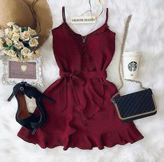 Veja mais no site Cute Summer Outfits, Classy Outfits, Stylish Outfits, Cool Outfits, Simple Dresses, Cute Dresses, Casual Dresses, Short Dresses, Teen Fashion