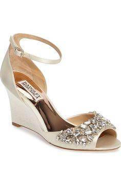 BADGLEY MISCHKA Barbara Wedge Sandal (Women). #badgleymischka #shoes #sandals