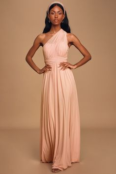 Blush Pink Convertible Maxi Dress for Bridesmaids #affiliatelink #bridesmaiddress #blushdress Dresses For Less, Nice Dresses, Formal Dresses, Reception Dresses, Women's Dresses, Dresses Online, Wedding Dresses, Blush Pink Bridesmaid Dresses, Pink Maxi