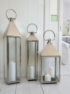 Large Outdoor Hanging Lantern | Stainless Steel Lanterns | Metal Lanterns | Stainless Lanterns