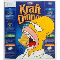 Homer on Kraft Dinner