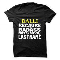BALLI T-Shirts, Hoodies (19$ ===► CLICK BUY THIS SHIRT NOW!)