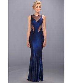 Faviana Mesh Detail Gown 7182 Sapphire - Zappos.com Free Shipping BOTH Ways bridesmaid dress
