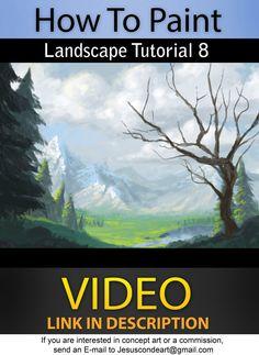 How to Paint_ LANDSCAPE_ TUTORIAL 8 by JesusAConde.deviantart.com on @deviantART