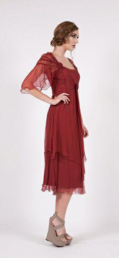 Nataya #40148 Ruby Vintage Romance Dress,DOWNTON ABBEY DRESSES,1920'S STYLE DRESSES