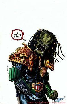 Predator x Punisher by Brian Bolland *